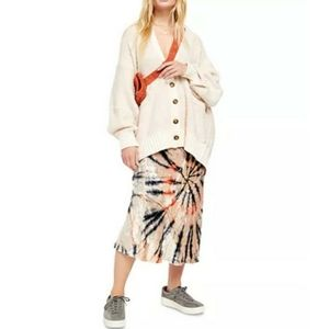 FREE PEOPLE Bali Swagger Tie Dye Maxi Skirt Small